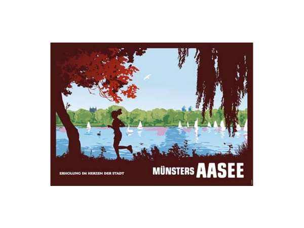 Poster Wentrup - Joggerin am Aasee - quer