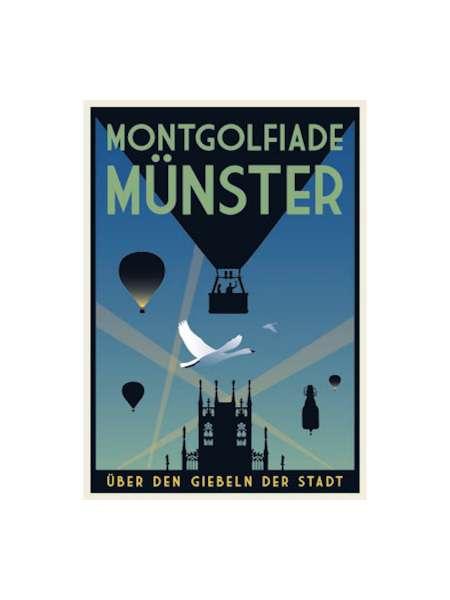 Postkarte Wentrup - Montgolfiade in Münster
