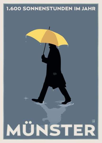 Poster Wentrup - gelber Regenschirm