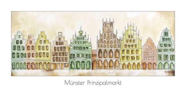 Klappkarte Prinzipalmarkt mit Rathaus natur/grün - Bockstette