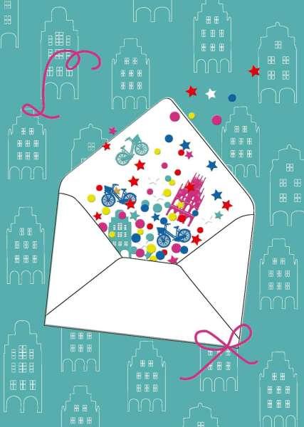 Postkarte - Briefumschlag Gruß mmm