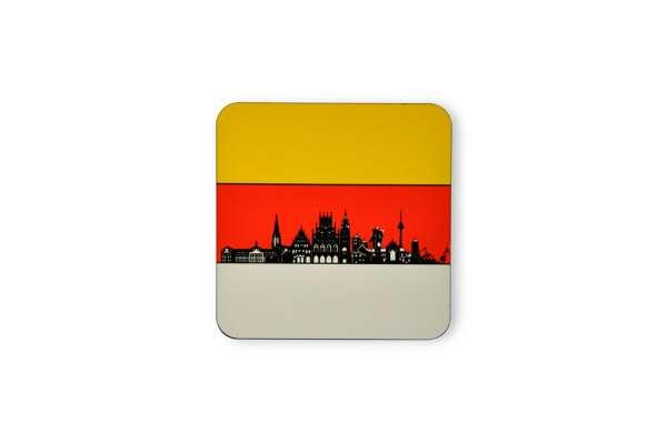 Untersetzer - Stadtfarben Münster Silhouette