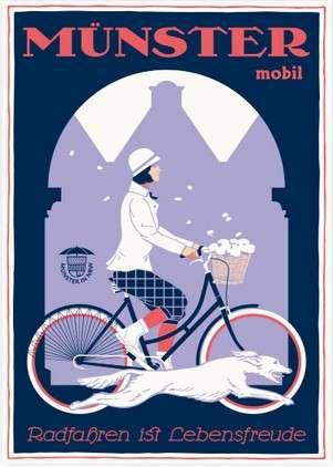 Postkarte Wentrup - Radfahren ist Lebensfreude