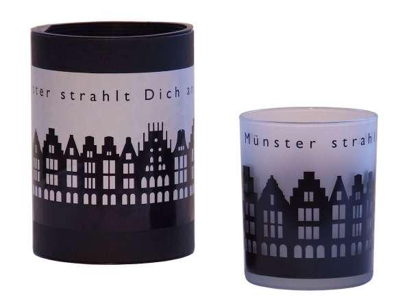 Windlicht / Trinkglas - Münster strahlt dich an