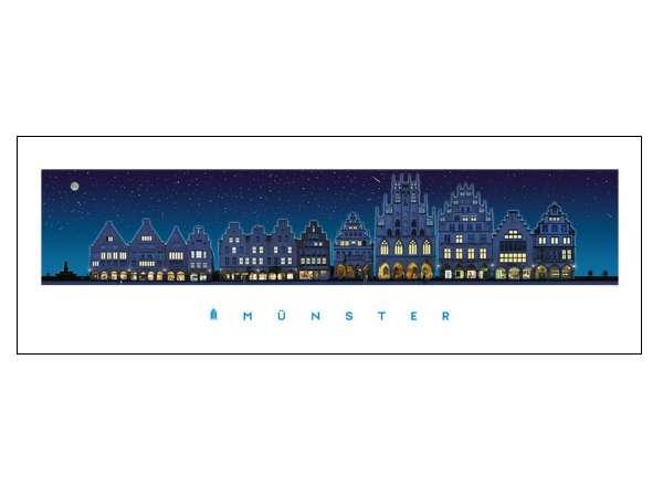 Panorama-Poster JHD - Prinzipalmarkt bei Nacht