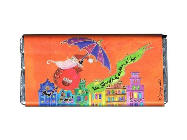 Weihnachts- Vollmilchschokolade Kiesewalter - Nikolaus orange
