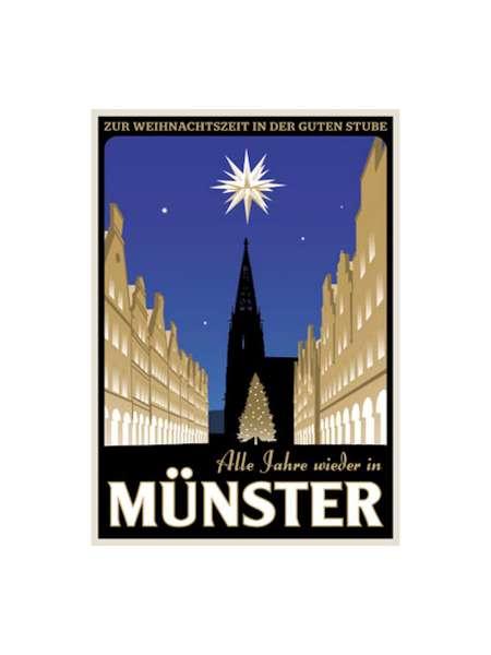 Postkarte Wentrup - Alle Jahre wieder in Münster