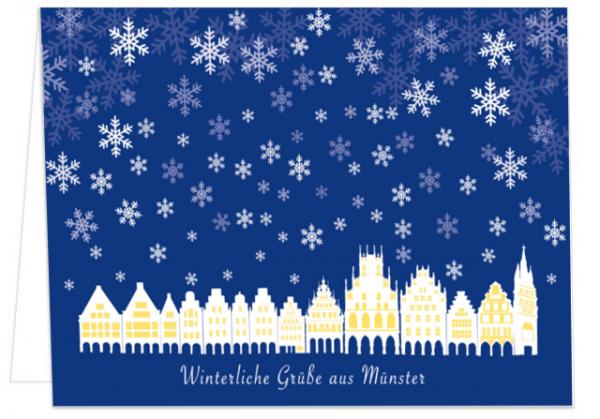 Klappkarte Winterliche Grüße aus Münster mmm