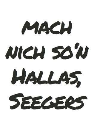 Postkarte Mach nich so'n Hallas - Bockstette