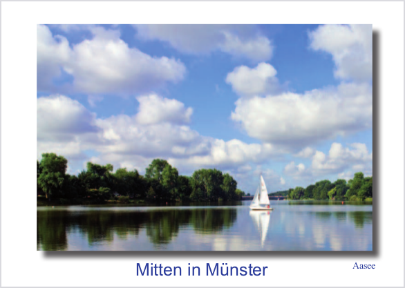 Postkarte Aasee mmm