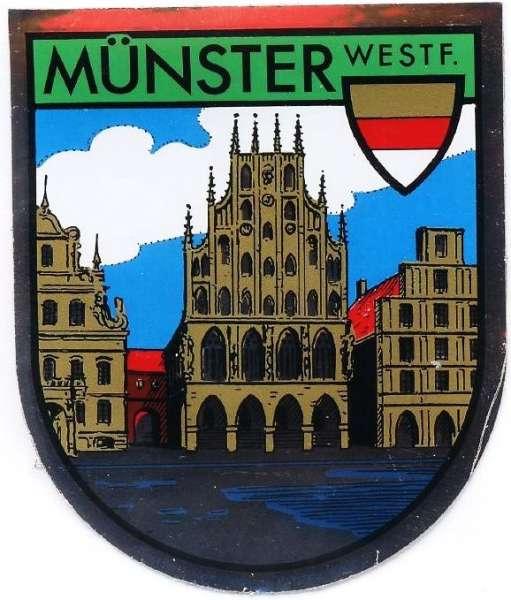 Aufkleber bunt - Rathaus Wappen