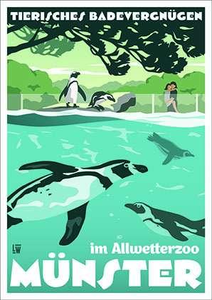 Postkarte Wentrup - Münsteraner Allwetter-Zoo