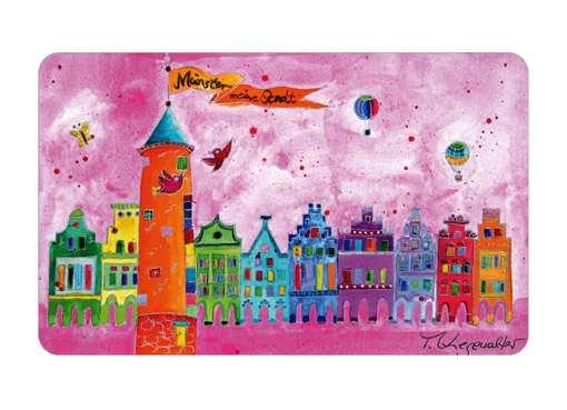 Frühstücksbrettchen Kiesewalter - Buddenturm pink
