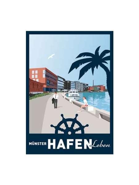Postkarte Wentrup - Hafen Leben in Münster