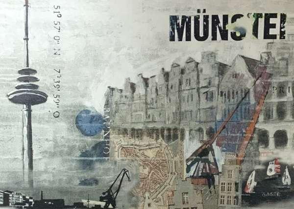 Postkarte klein Ottenjann - Münster grau