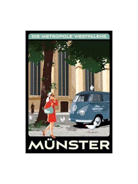 Postkarte Wentrup - Metropole Münster 2 - Bulli