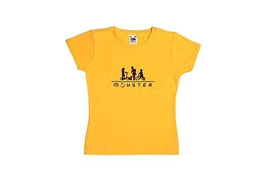 Mädchen T-Shirt - Radler, Mädchen und Hund