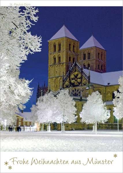 Postkarte Weihnachten Dom mmm