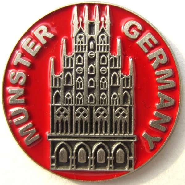 Ansteckpin - Münze Rathaus Münster