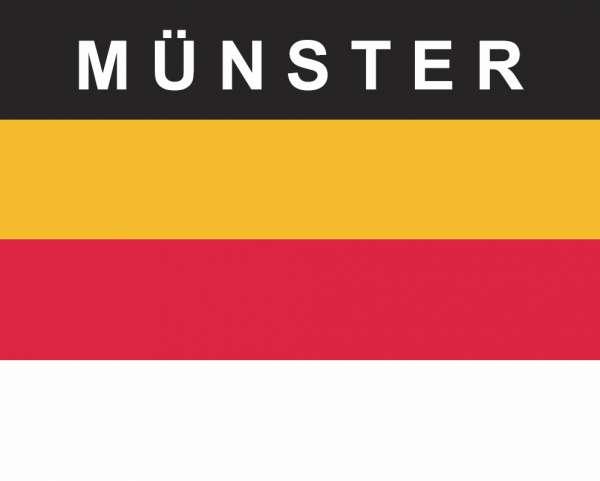 Aufkleber - Münster Fahne