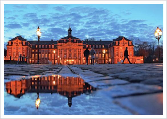 Postkarte Romantisches Schloss Münster mmm