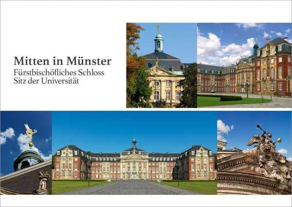 Postkarte Mitten in Münster - Schloss mmm