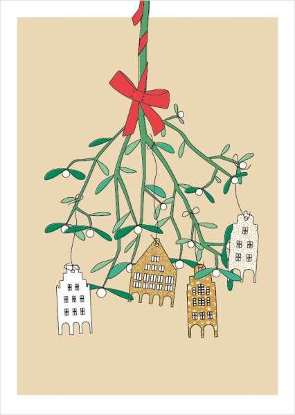 Postkarte Mistelzweig mmm