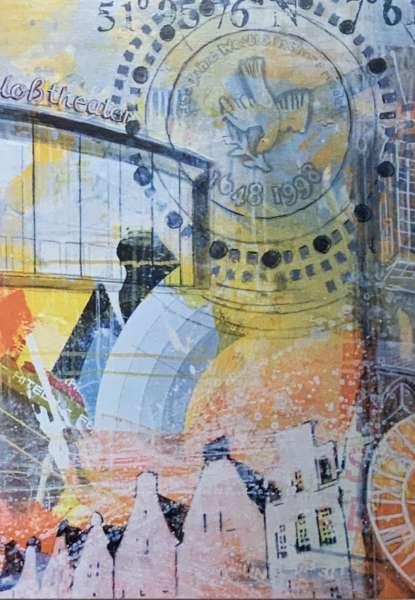 Postkarte groß Frieden orange Ottenjann