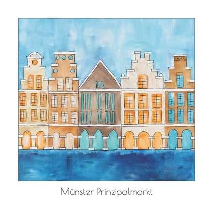 Postkarte Münster Prinzipalmarkt Quadrat