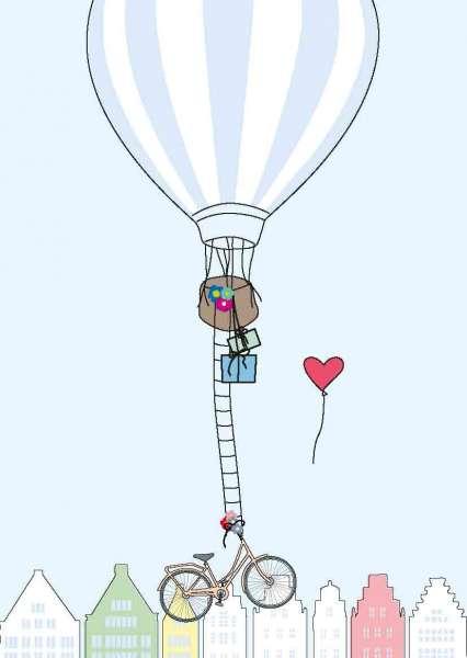 Postkarte - Heißluftballon mmm