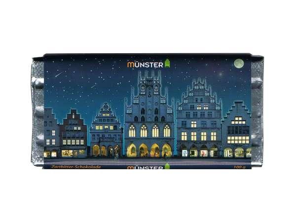 Bio-Bitterschokolade - Münster bei Nacht