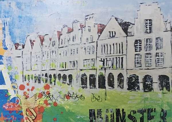 Postkarte klein Ottenjann - Giebel grün