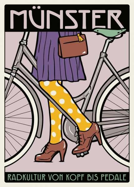 Postkarte Wentrup - Radkultur von Kopf bis Pedale