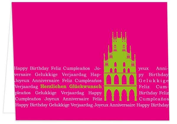Klappkarte Rathaus auf Text Herzlichen Glückwunsch mmm