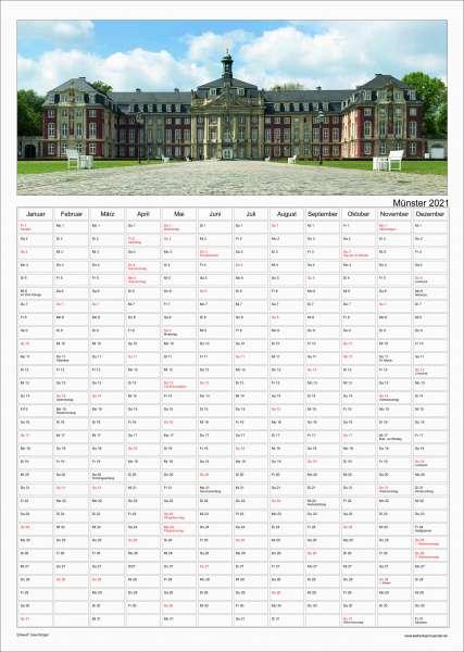 Jahresplaner Krüger - Münster Kalender 2021