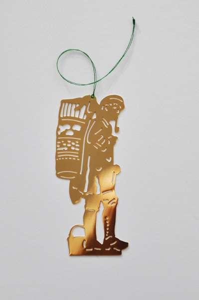 Christbaum-Anhänger Kiepenkerl vergoldet