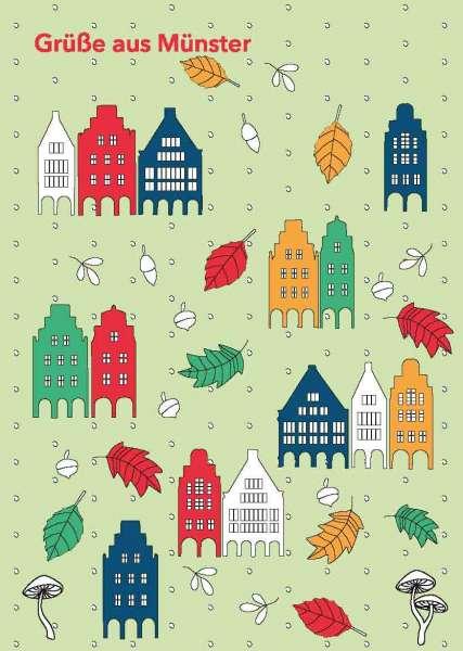 Postkarte - Prinzipalmarkt Herbstmuster mmm