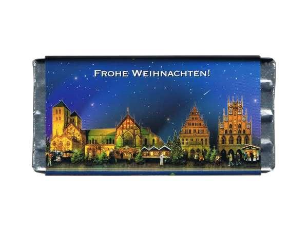 Weihnachts- Vollmilchschokolade JHD - Weihnachtsmarkt