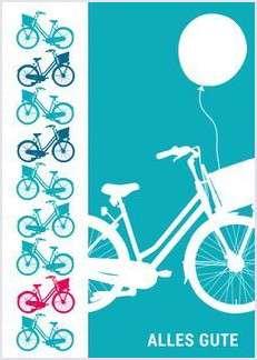Postkarte - Fahrrad - Alles Gute mmm