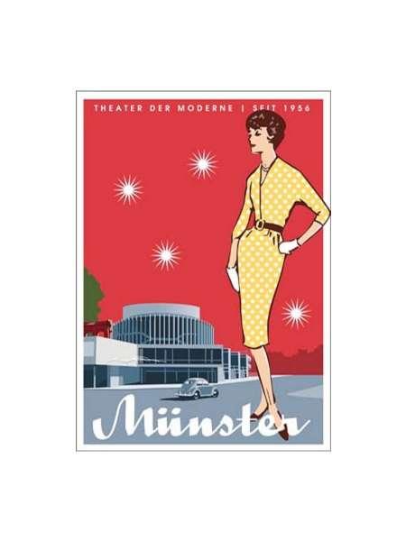 Postkarte Wentrup - Theater der Moderne in Münster