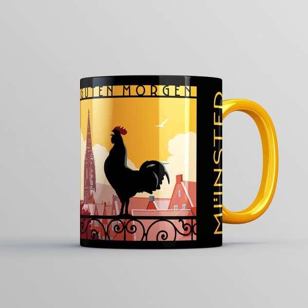 Tasse Wentrup - Guten Morgen Hahn gelb