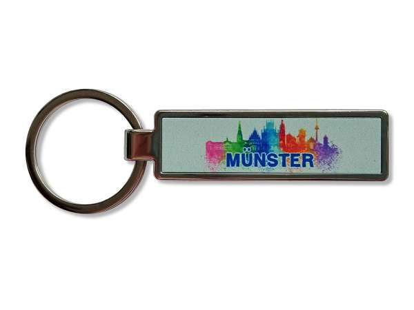Schlüsselanhänger/Flaschenöffner - Münster Skyline bunt