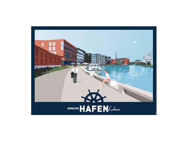 Poster Wentrup - Münster Hafen Leben - quer