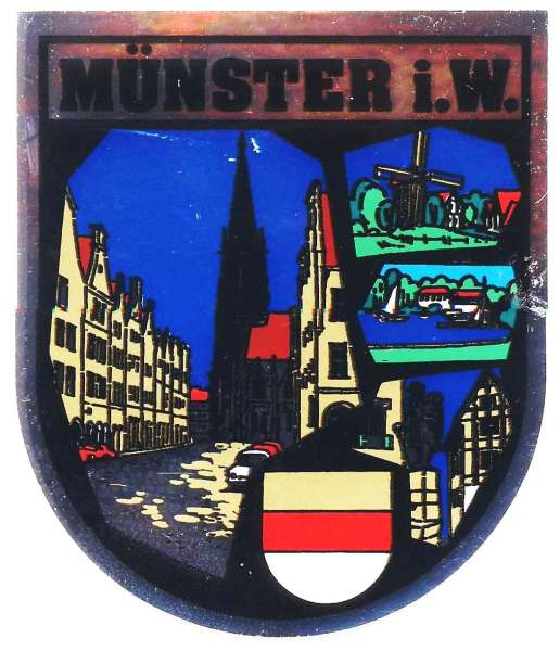 Aufkleber bunt - Münster Wappen - von Allem etwas