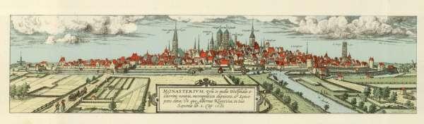 Franz Hogenberg - Historische Stadtansicht Münster 1572