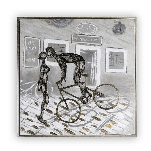 Bild Kiss - Paar auf Fahrrad