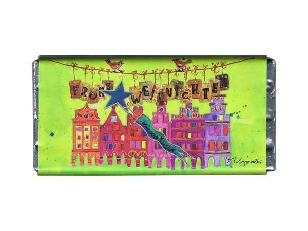 Weihnachts -Vollmilchschokolade Kiesewalter - Giebelhäuser grün