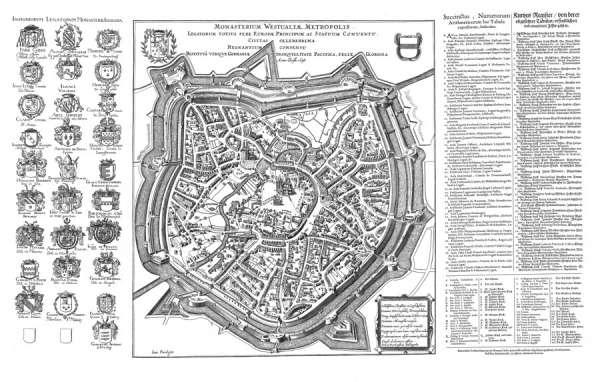 Beckstein Plan - Historische Karte Münster 1648