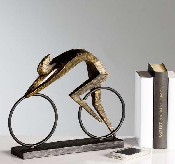 Skulptur - Racer bronze