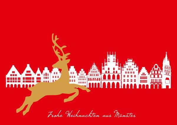 Postkarte Prinzipalmarkt Rentier mmm
